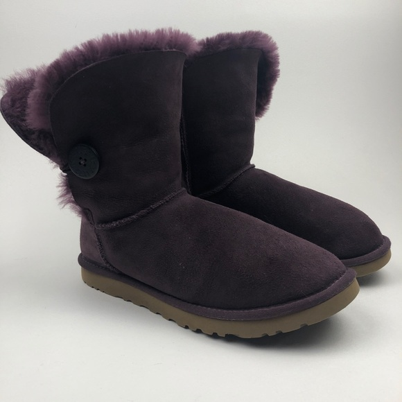 63948584d1d UGG Purple Bailey Button Sheepskin Winter Boots NWT